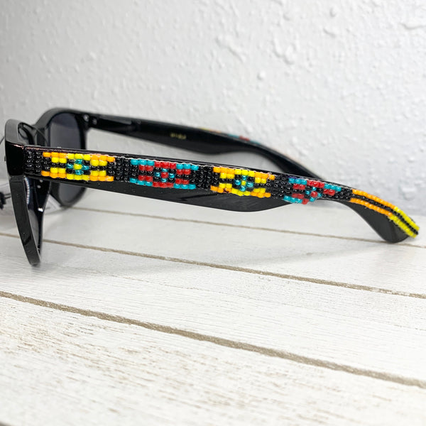Yellow loom Beaded Sunglasses