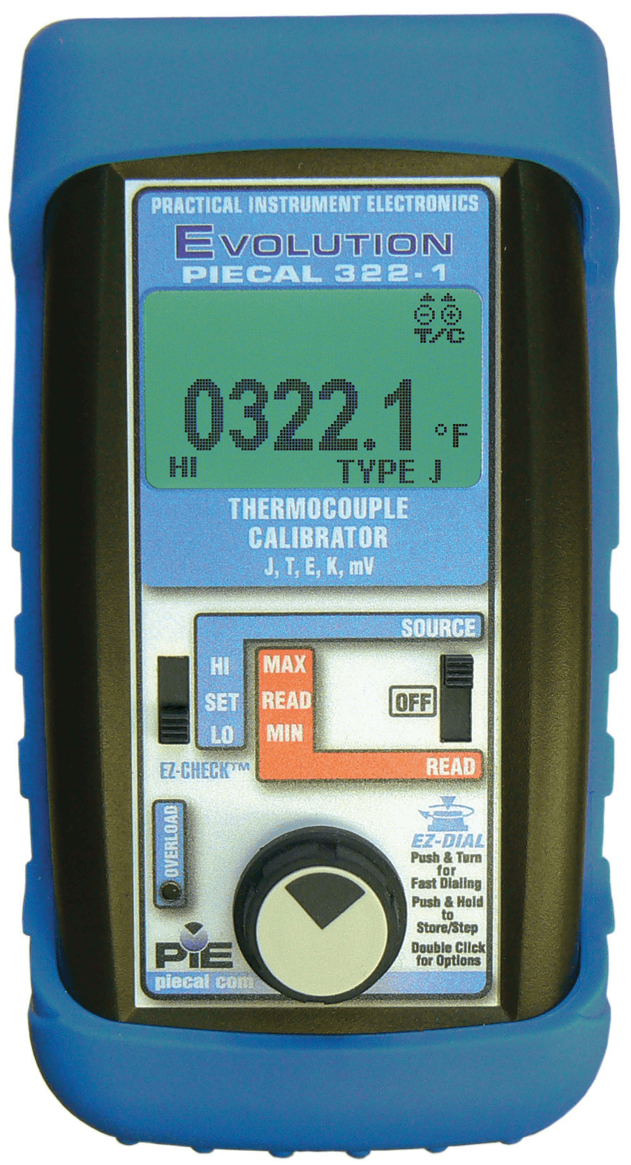 PIECAL 322 Thermocouple Calibrator/Source Read w/Auto Step