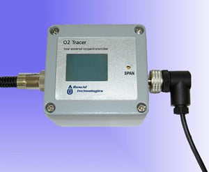 Roscid's O2TRACER-DIS-R Series, 4-20 mA Loop Powered 2 Wire Oxygen Transmitters w/Display