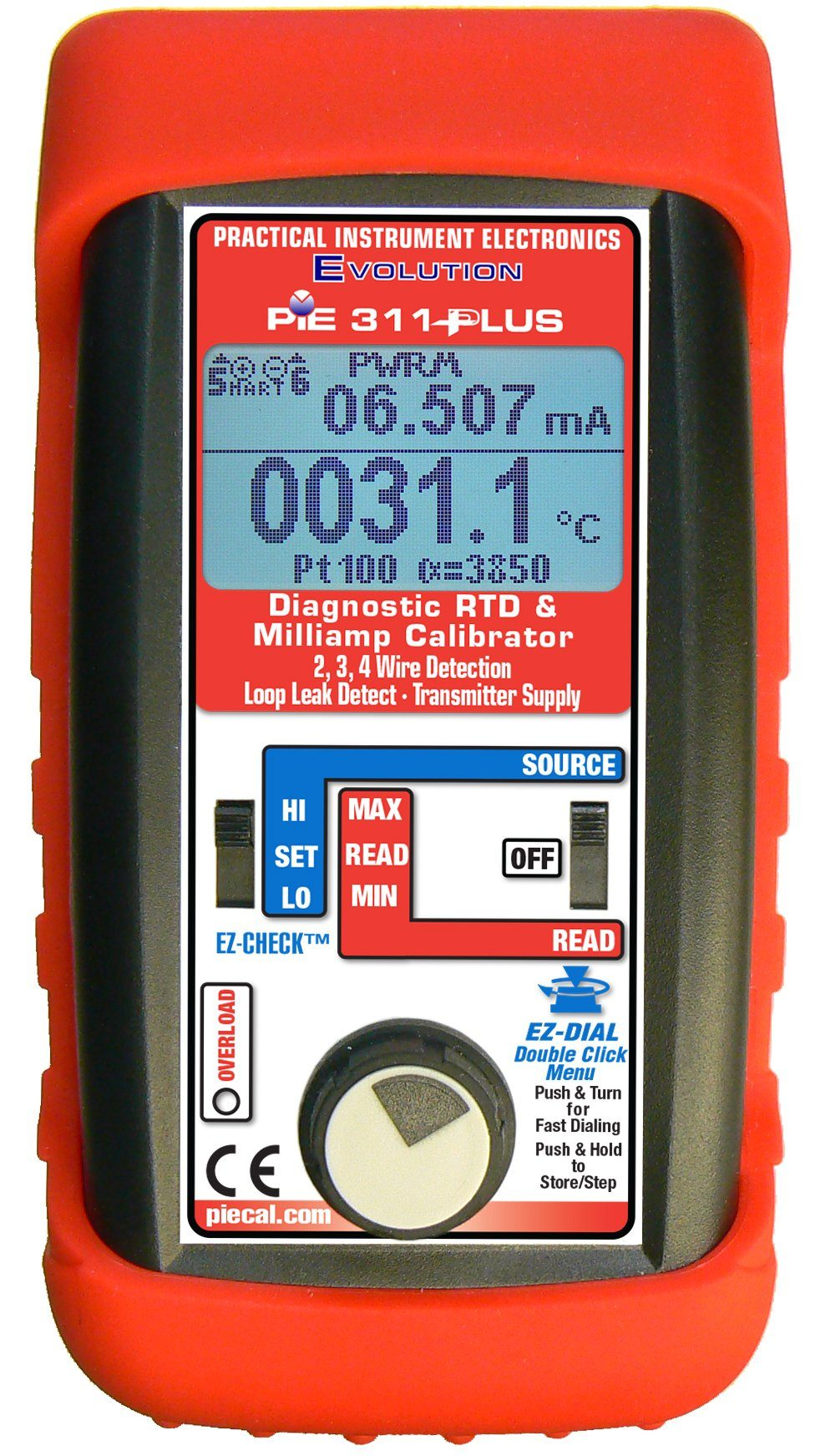 PIE 311-PLUS Diagnostic RTD/Milliamp Calibrator