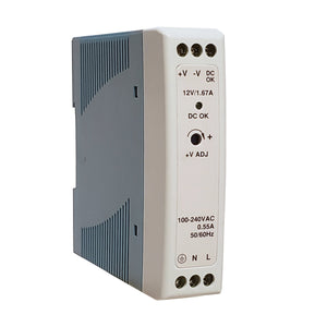Unregulated DIN Rail Mount Power Supply