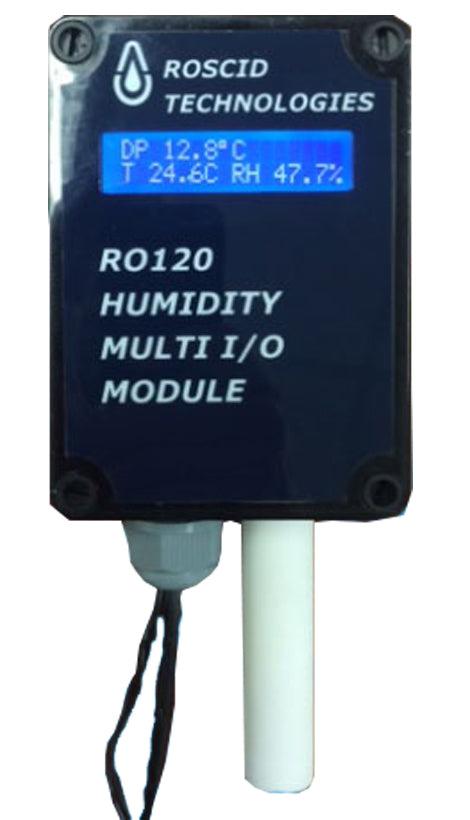 RO120-W-DIS High Accuracy Wall Mount Temperature, Dew Point and Humidity Transmitter with Remote Display