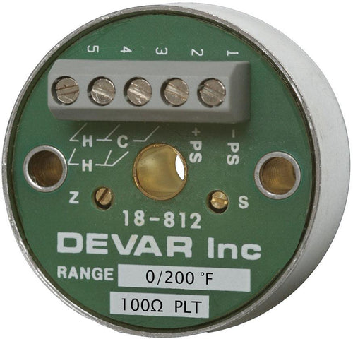 FM Approved, Intrinisically Safe, Two Wire Wire RTD Transmitter - Devar Model 18-812IS