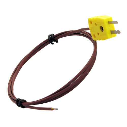 WTC-TT-K-20-40-MP Type K Beaded Wire Thermocouple with Miniature Male Connector