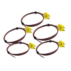 5 Pack of Type K Thermocouples