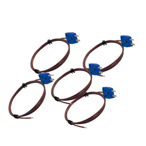 5 Pack of Type T Thermocouples