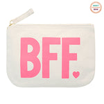 BFF Canvas Zip Pouch