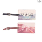 Set of 2 Wanderlust Adventure Luggage Tag
