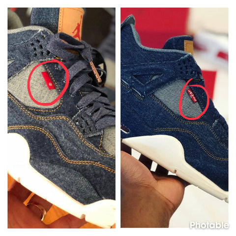 4b88e21feaa1c4 Jordan 4 x Levis - The Notorious Red Tab – StrictlySoles