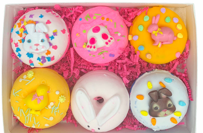 6 pack Easter Bath bomb Donuts