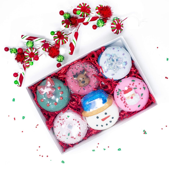 Holiday Donut 6 pack Donut Bath Bombs