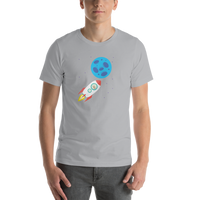 Bitcoin to the Moon Short-Sleeve Unisex T-Shirt