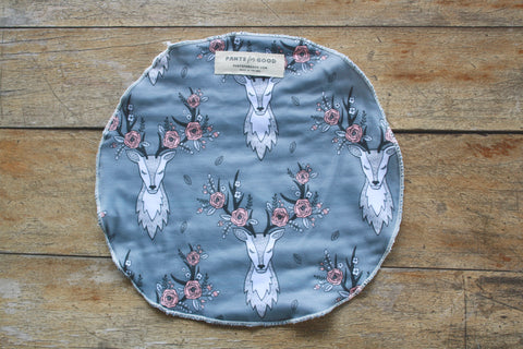 Deer head burp cloth