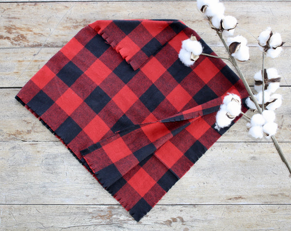 Flannel Poncho  Red Buffalo Check