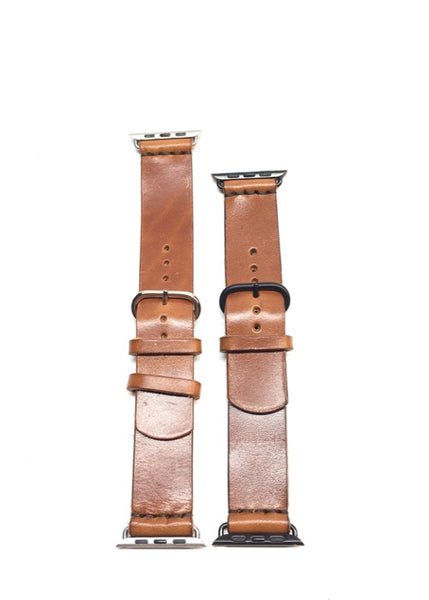 H+B APPLE WATCHBAND in BUCK BROWN FULL GRAIN LEATHER