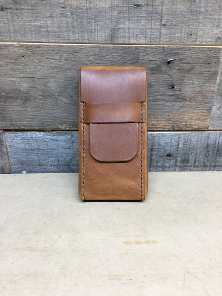 H+B CIGAR CASE ENGLISH TAN LEATHER