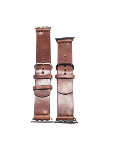 H+B APPLE WATCHBAND - ESPRESSO BROWN FULL GRAIN LEATHER