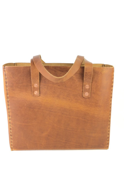 LEATHER TOTE BAG | H+B CLASSIC ENGLISH TAN LEATHER TOTE BAG