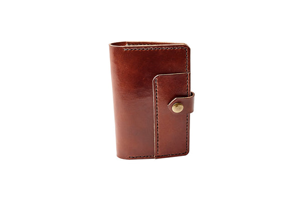 H+B NOTEBOOK/PASSPORT HOLDER WITH PEN SLEEVE | ESPRESSO BROWN LEATHER
