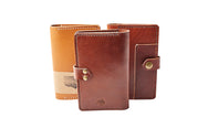 H+B NOTEBOOK/PASSPORT HOLDER WITH PEN SLEEVE | BURNT UMBER LEATHER