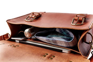 H+B SADDLE | BURNT UMBER LEATHER