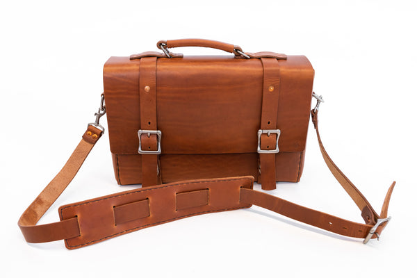 H+B LEATHER BAG | CLASSIC TAN LEATHER BAG