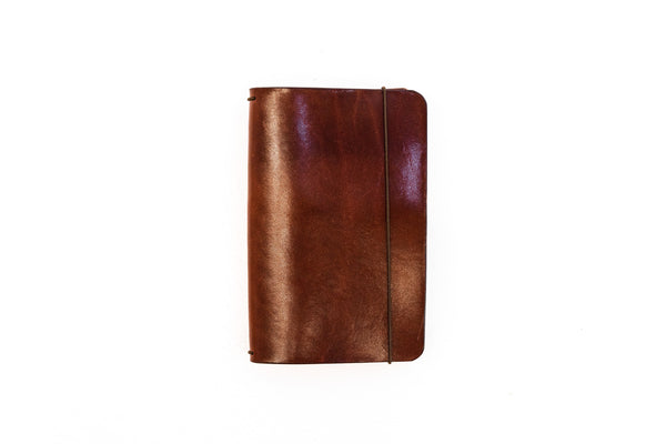 H+B Field Notes JOURNAL | ESPRESSO BROWN LEATHER JOURNAL