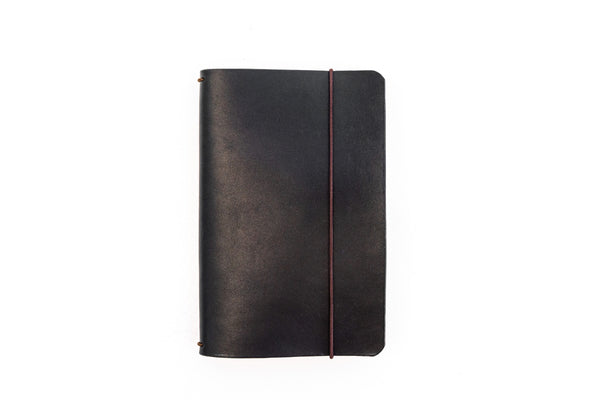 H+B FIELD NOTES JOURNAL | BLACK LEATHER JOURNAL