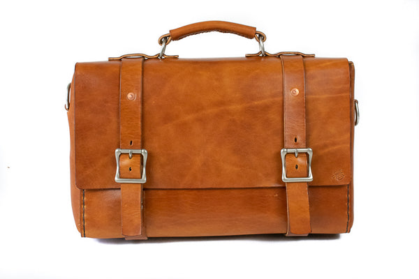 H+B CLASSIC | BUCK BROWN LEATHER BAG
