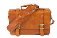H+B LEATHER BAG | CLASSIC BUCK BROWN LEATHER BAG