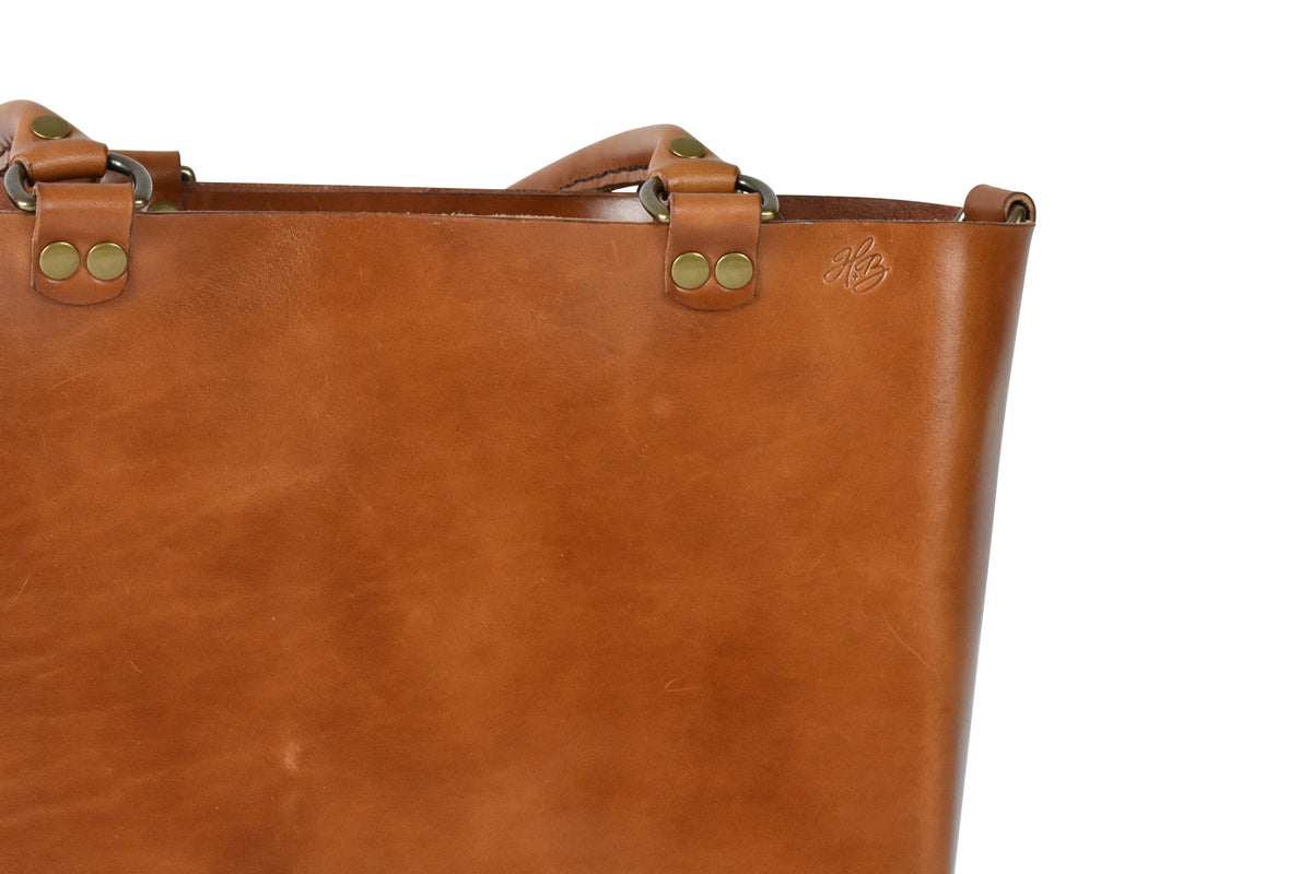 H+B Everyday Tote | Premium Edition | Buck Brown Leather
