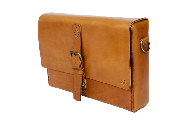 H+B MESSENGER | BUCK BROWN LEATHER