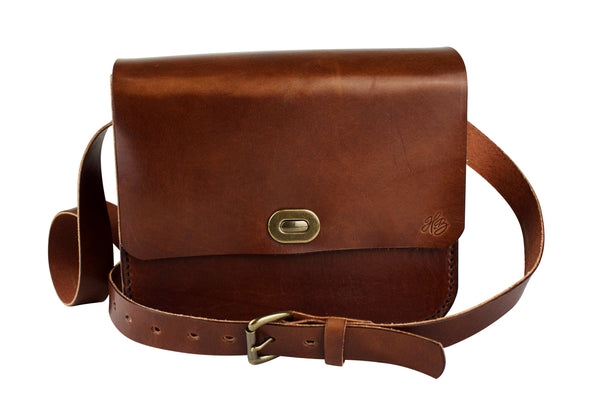 H+B WILSON CROSSBODY PURSE - ESPRESSO BROWN LEATHER