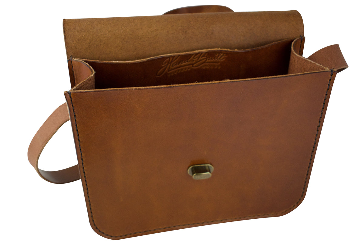 H+B WILSON CROSSBODY PURSE - BUCK BROWN LEATHER