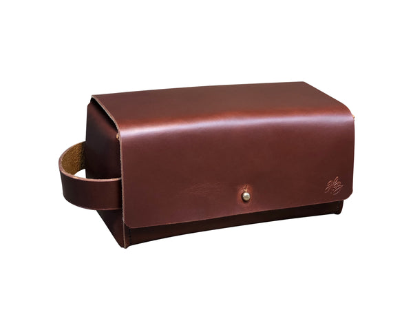 H+B SIMPLE DOPP KIT | BURNT UMBER LEATHER