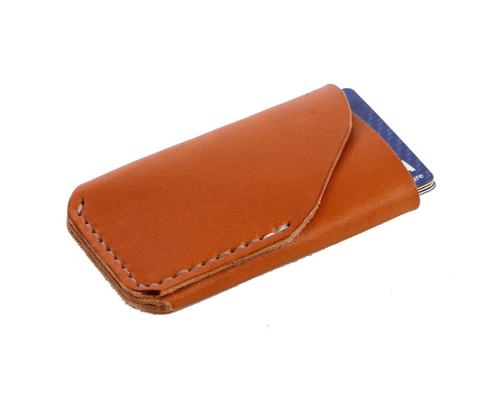 H+B CARD LEATHER WALLET | TAN LEATHER WALLET