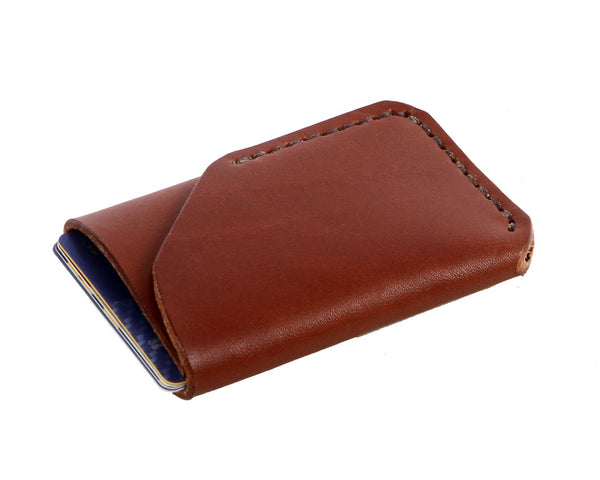 H+B CARD LEATHER WALLET | SEDONA BROWN LEATHER WALLET