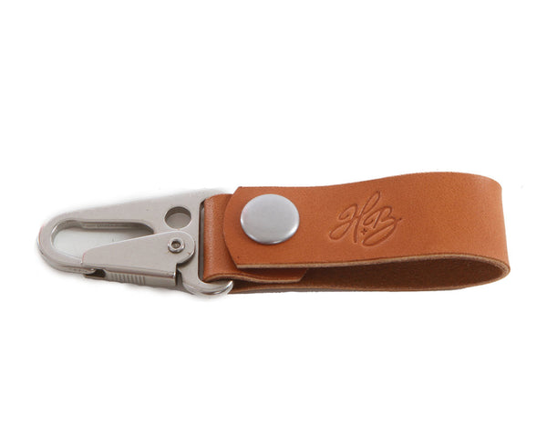 H+B KEY FOB | TAN LEATHER