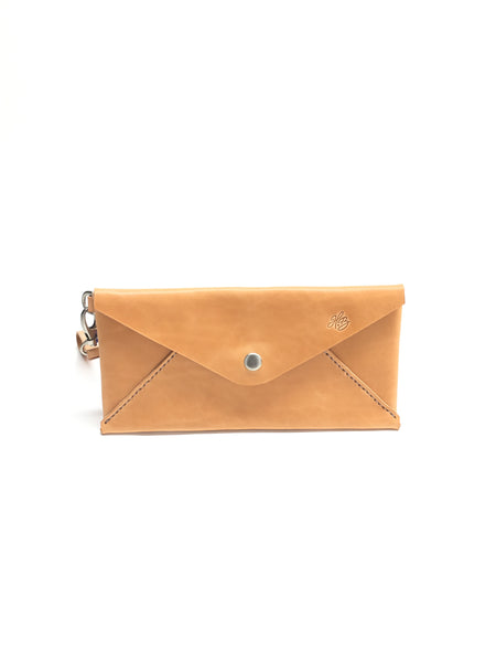 H+B CLUTCH | RUSSET LEATHER CLUTCH PURSE