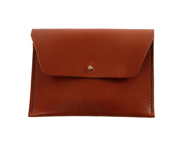 H+B COSMETIC BAG | SEDONA BROWN LEATHER COSMETIC BAG