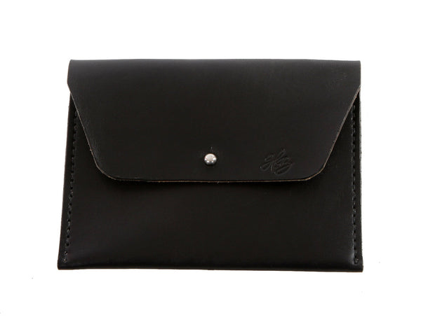 H+B COSMETIC BAG | BLACK LEATHER