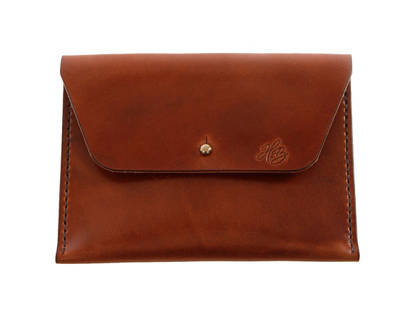 H+B COSMETIC BAG | ESPRESSO BROWN LEATHER COSMETIC BAG
