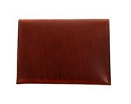 H+B COSMETIC BAG | BURNT UMBER LEATHER COSMETIC BAG