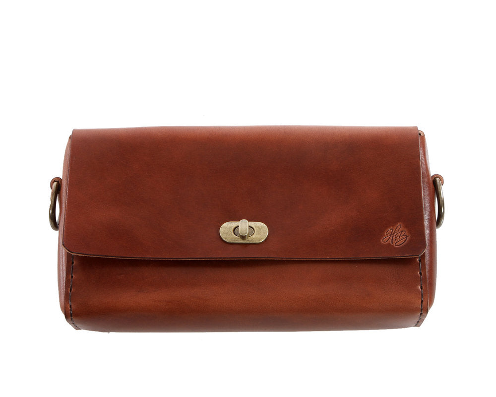 H+B CROSSBODY | ESPRESSO LEATHER CROSSBODY PURSE