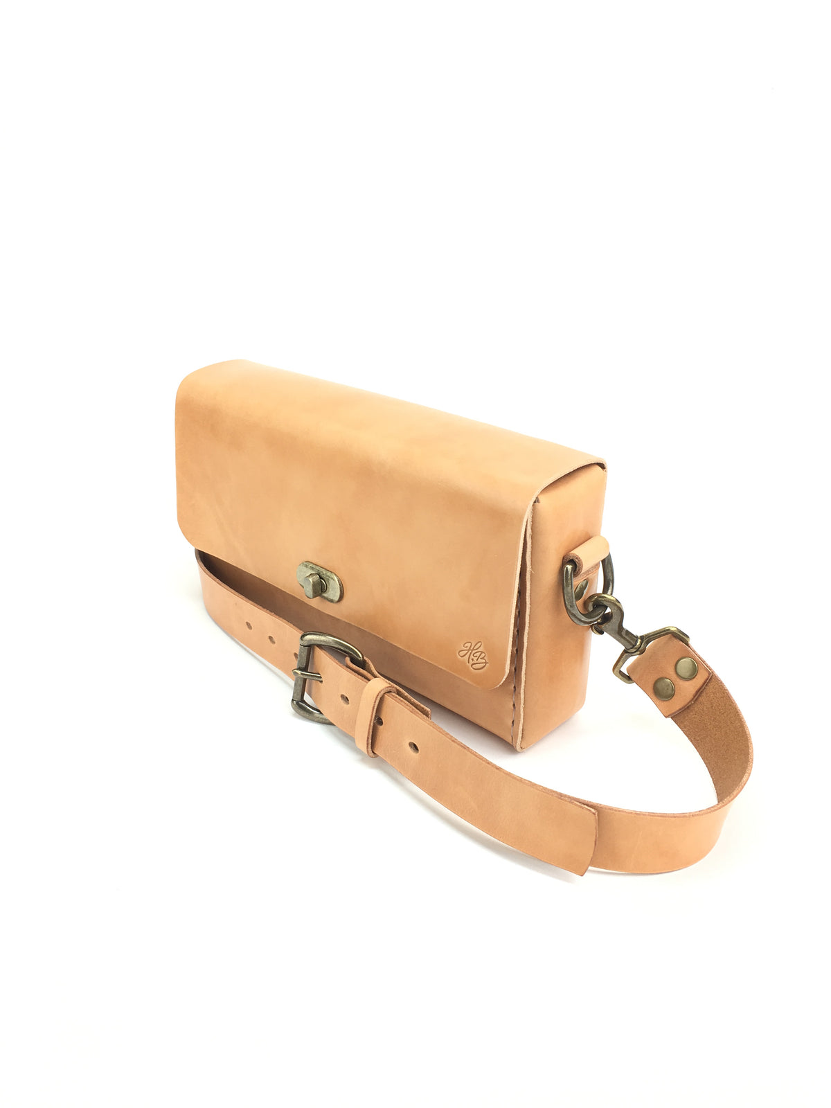 H+B CROSSBODY | RUSSET LEATHER CROSSBODY PURSE