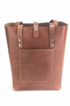 LEATHER TOTE BAG | H+B EVERYDAY ESPRESSO BROWN TOTE BAG