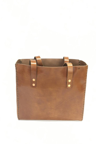 LEATHER TOTE BAG | H+B CLASSIC BUCK BROWN LEATHER TOTE BAG