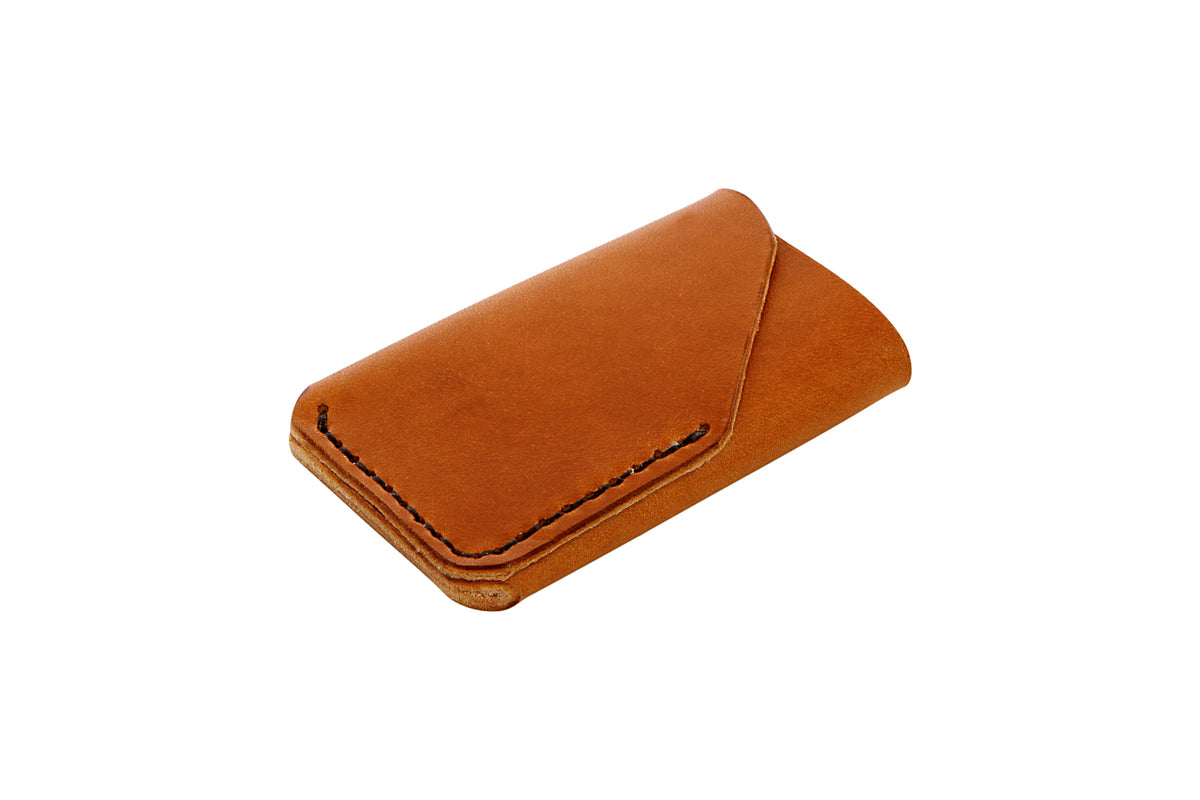 H+B CARD LEATHER WALLET | BUCK BROWN LEATHER WALLET