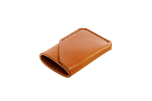 H+B CARD WALLET | BUCK BROWN LEATHER