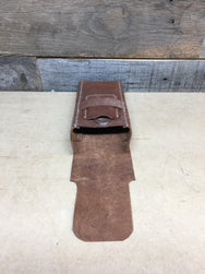 H+B CIGAR CASE LIGHT BROWN LEATHER